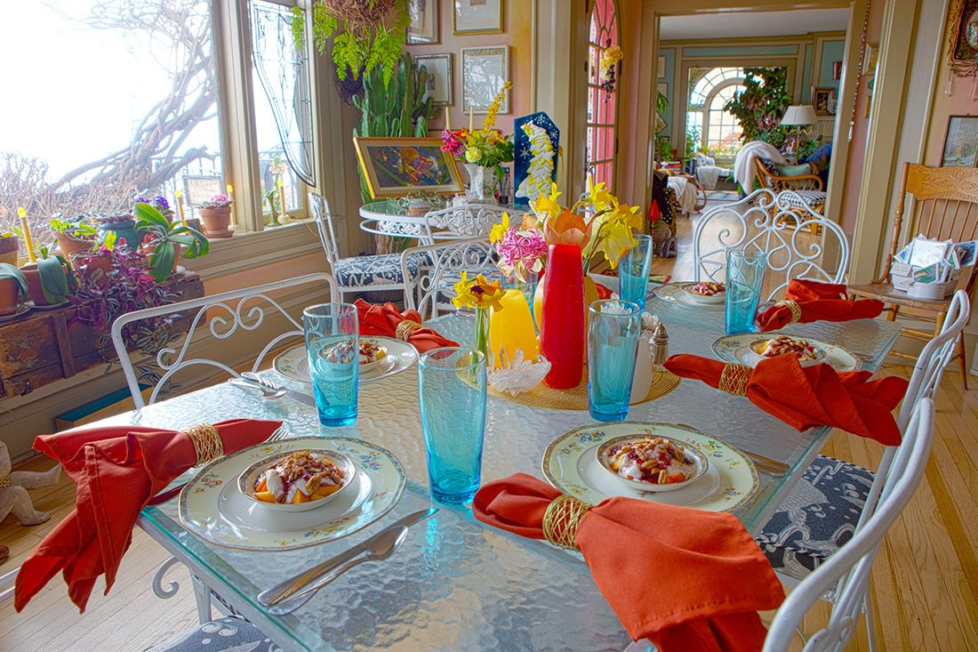Dining at The Surgeon's House Bed & Breakfast