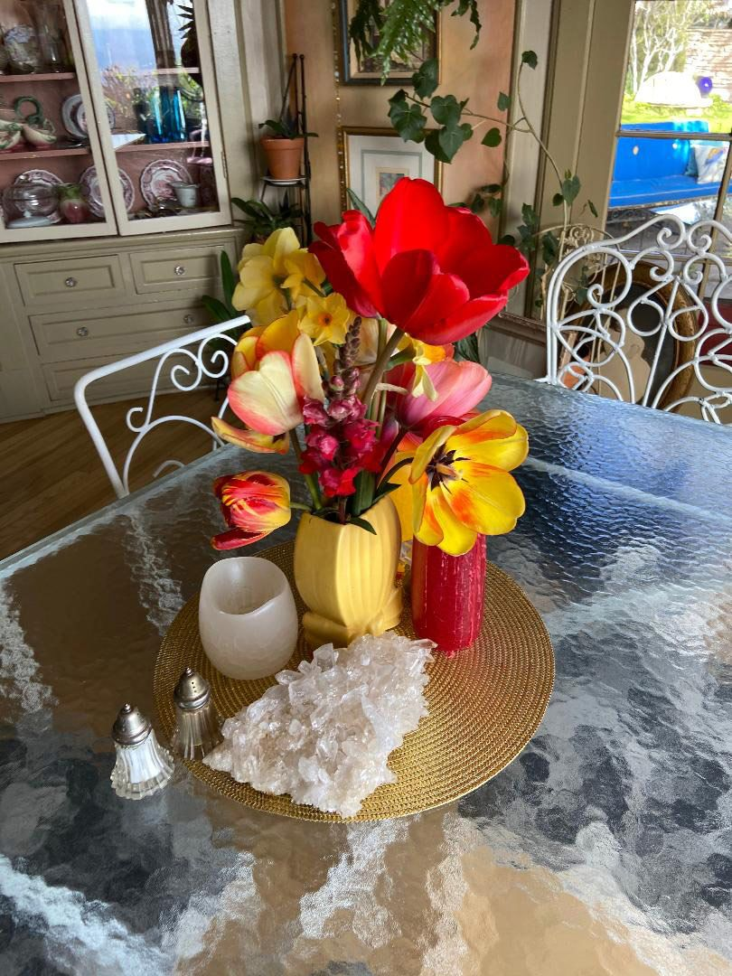 Breakfast table centerpiece