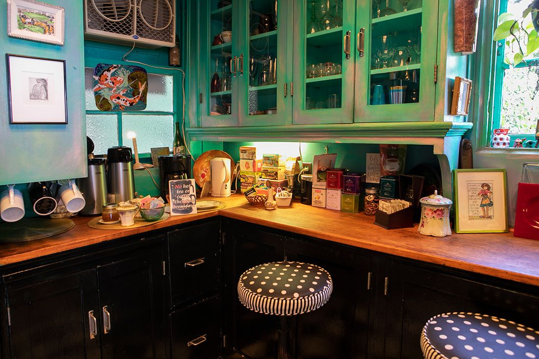 Coffee and Tea corner in the kitchen