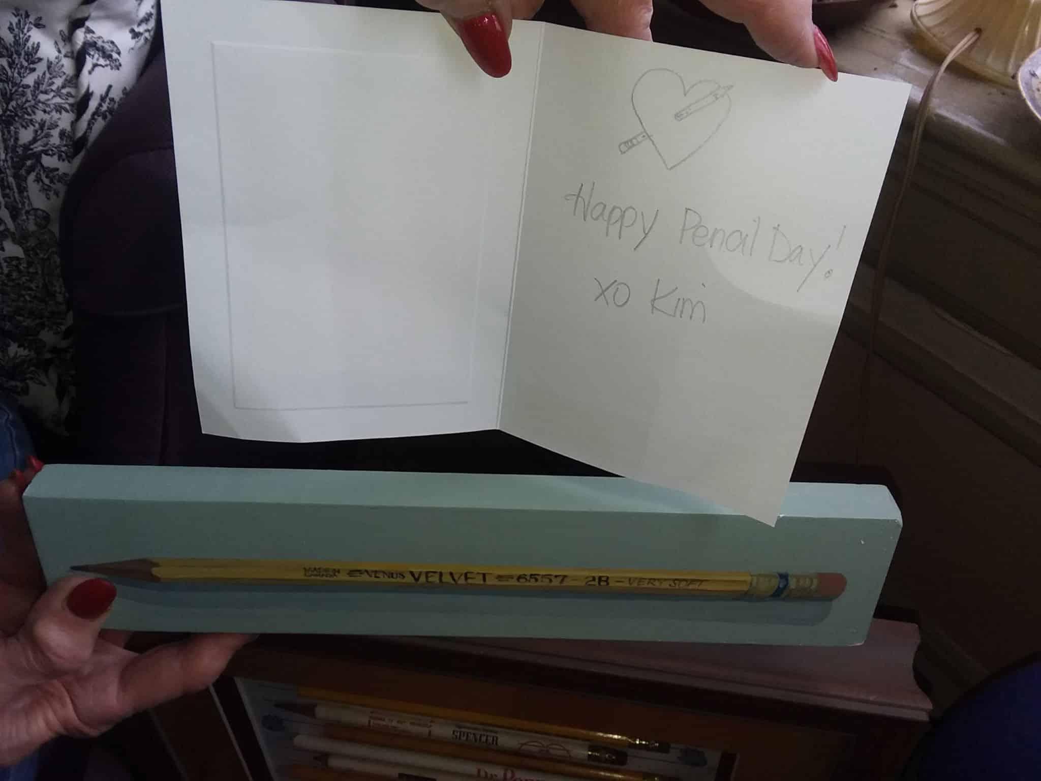 Pencil felicitations