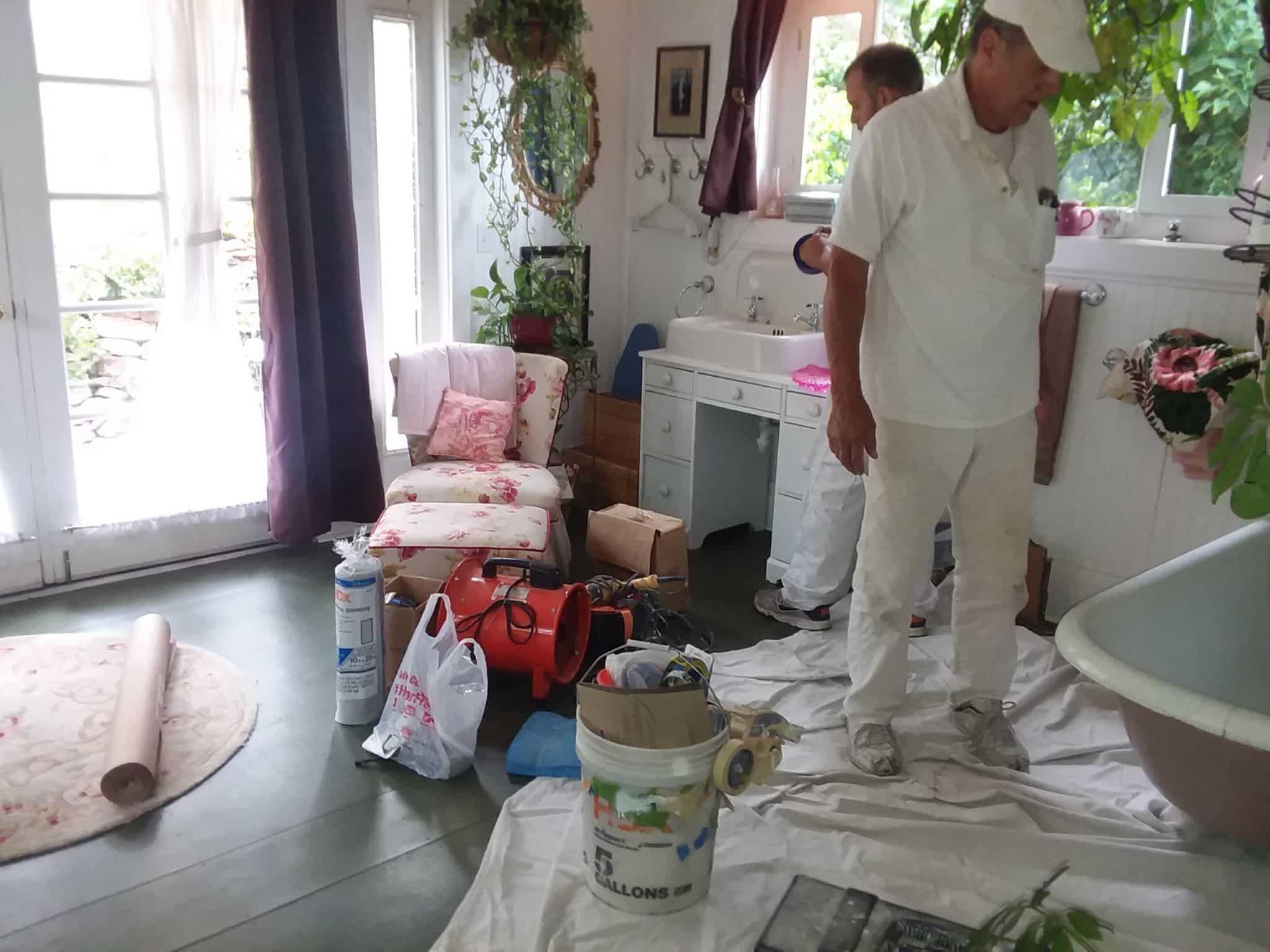 Maid's Back setting up