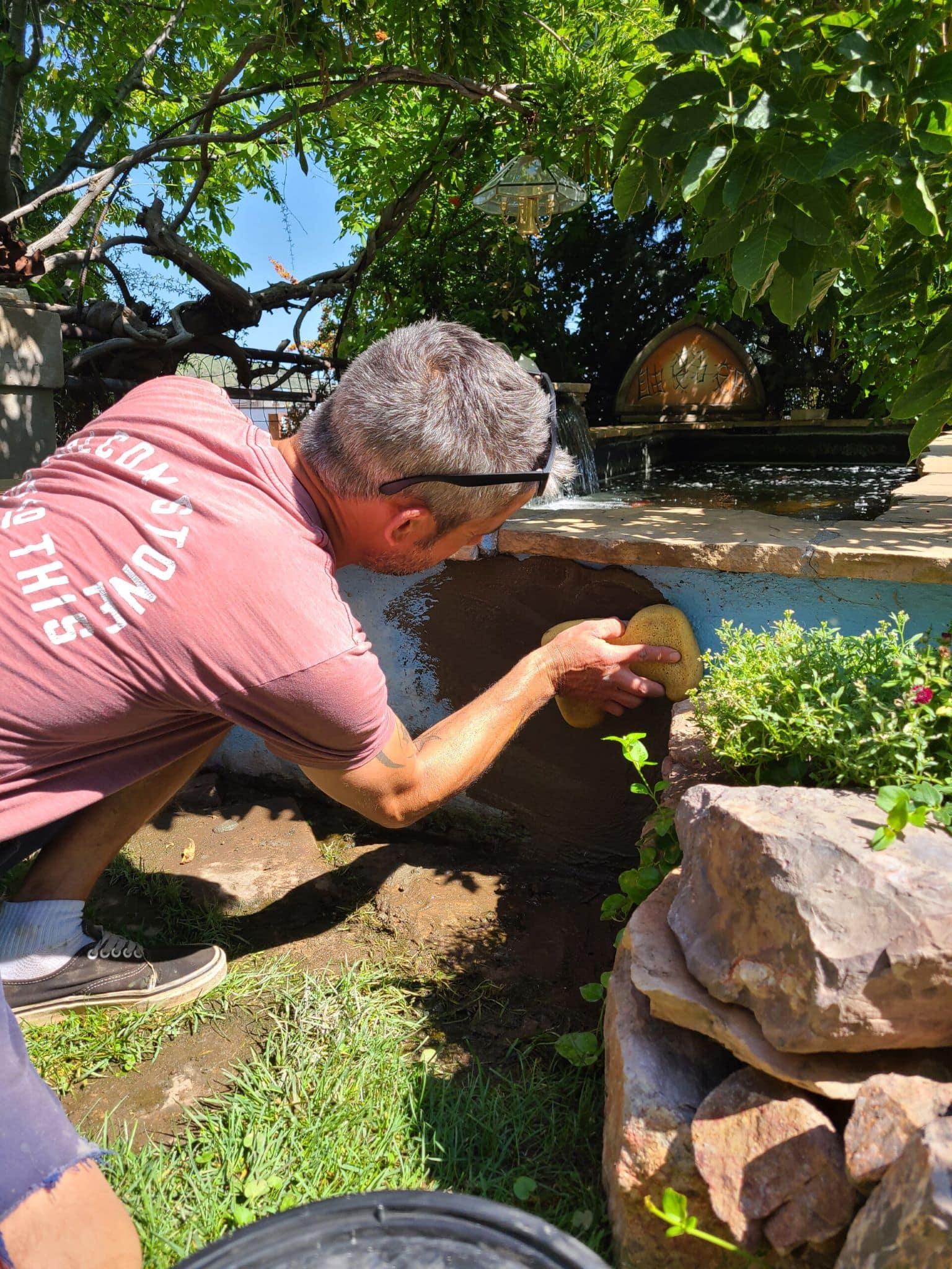 Pond leak repair